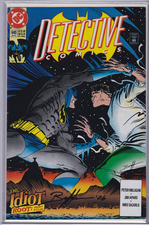 Detective Comics #640 - Firmado / Signed