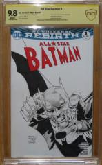 All Star Batman #1 - Firmado y sketch de STEVEN WILCOX